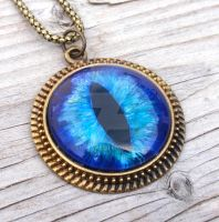 Large Eye Pendant Blue by LilithLynx