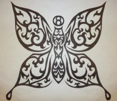 Tribal Butterfly by MagpieVon