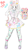 LinePlay Avatar: Milk Tea sketch by Yukella