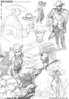 Gun Slinger Sketches 2010 by titanomaquia