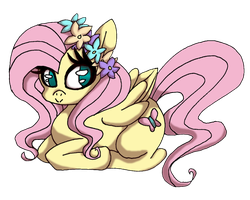 FlowercrownShy by AleshaTheFox