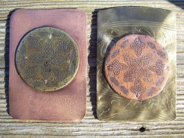 Celtic Targe ATCs by creativeetching