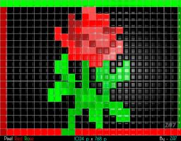 Pixel Red Rose by ZA-7