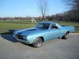 Blazing blue el camino by puddlz