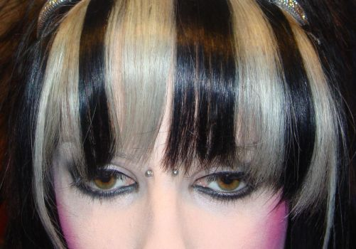 Beetlejuice themed fringe by CandyAcidHair