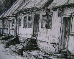 little old houses by kkira