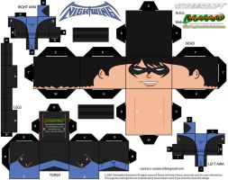 Dick Grayson Nightwing cubee by MysterMDD