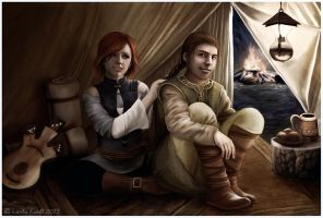 An Evening in the Camp by Isriana