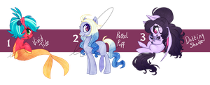 Pony adoptables CLOSED by Doodleshire