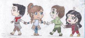 legend of korra chibis by obsessedwithYJ