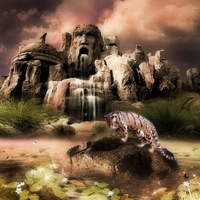 Clouded Leopard Ruins by WaterSinger