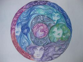 Mandala of faces by Eve-of-WinterStar