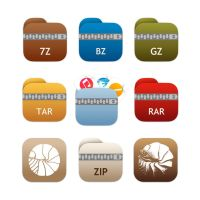 Keka folders iOS 7/8 style icons by ChilliTrav