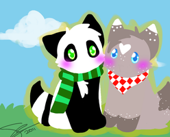 :AT: Rosie and Panda by ShayminLover101