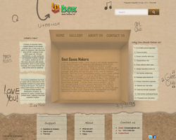 Web Design: InBox - Box Makers by MeTer-Jo