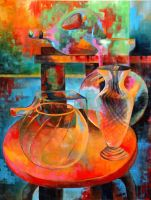 Colorful Glass Still Life by Yelena315