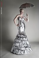 Andrea - Tin Foil Gown by kubowski