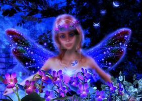 Blue Night Fairy by Vintyfalken