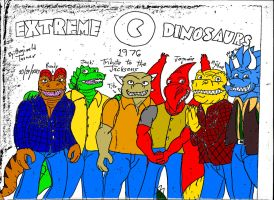 EXTREME DINOSAURS As The JACKSONS 1976 by reg92