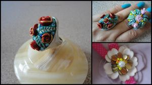 Rings and Brooch by MrsEfi