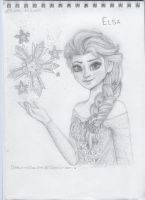 Frozen: Elsa by Drawing-Heart