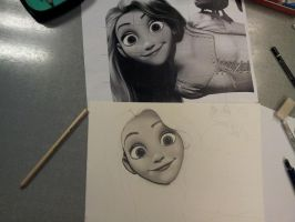 Tangled WIP by Jaki33