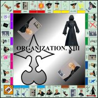 Kingdom Hearts 2 Monopoly by RoxasTsuna