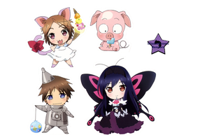 Accel World Chibis Renders by lFlameCrown
