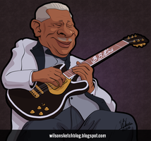 B.B. King (Cartoon Caricature) by wilson-santos
