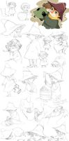 Jox and Snufkin sketches by Tamasaburo89