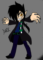 My little brother first oc, Dark by Claddle