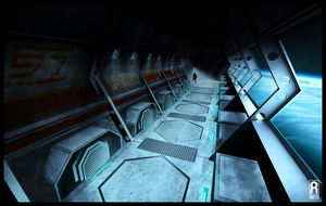 SPEED PAINT - Space Station Walkway by VR-Robotica