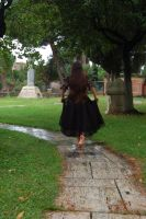 Girl in Cemetery 2 by InTenebris-Stock