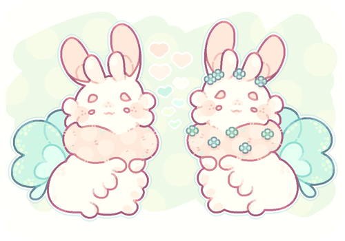 small flower bun paca by blushbun