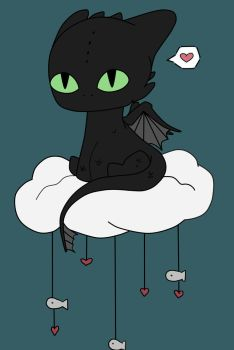 Toothless Cloud by Ocean-Drawn