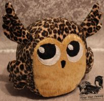 Leopard Owl Plush by Forge-Your-Fantasy