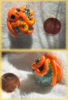 Orange octopus - Large by Kerokie
