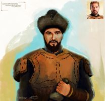 Ertugrul Gazi portrait painting by eydii