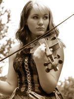 Girl with Violin by Scherbius