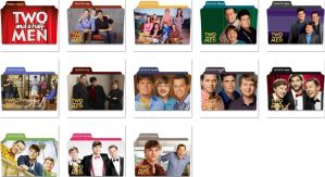 Two and a half men Folder Icons by nellanel