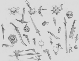 Sketch Dump -Weapons- by shadow-recon-666