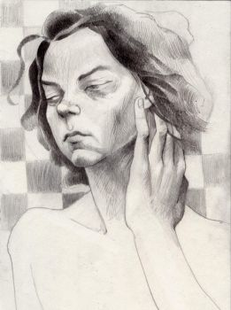 Valentina touching her face I by greysmith