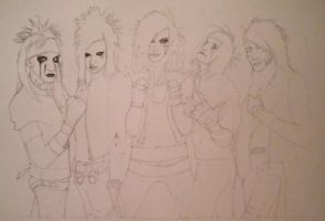 Black Veil Brides Lineart by ShadowofChaos666