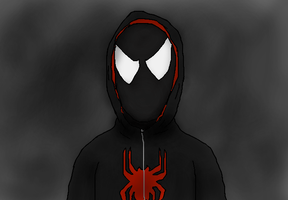 Homemade Spider Man Costume drawing by TheSpiderAdventurer