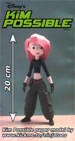 Kim Possible papercraft by ninjatoespapercraft