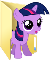 Custom filly Twilight folder icon by Blues27Xx