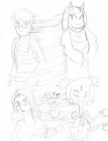 undertale tf 3 aidan and Tam by Jonesycat79