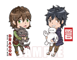Chibi Hiccup and Hiro by time-season