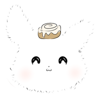 Angora Rabbit with Cinnamon Bun  by Ambercatlucky2
