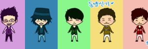 DBSK chibis by clarinetlovr